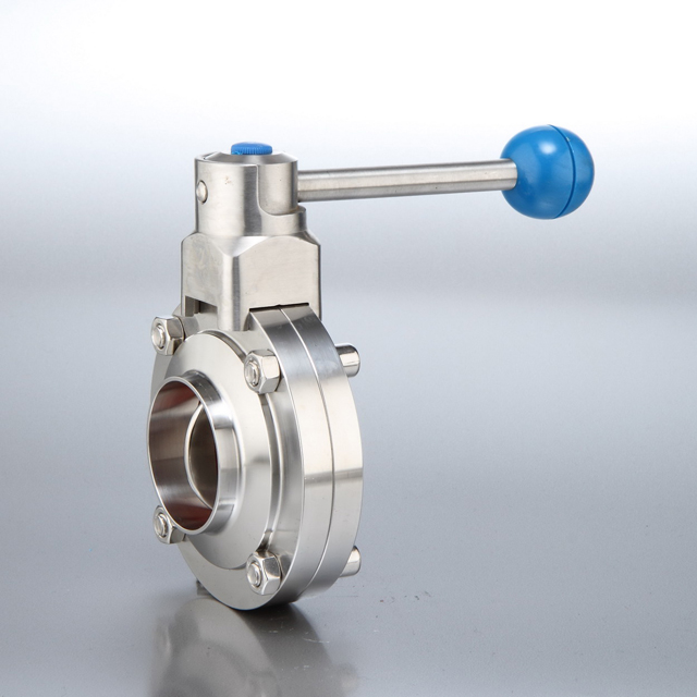 Sanitary Butterfly Valves Weld End with Pull Handle