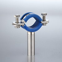 Sanitary Anti-Vibration Clip 304 Complete with blue insert