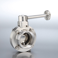 B5101 Series Butterfly Valves Female End with Infinite Handle