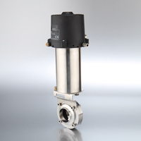 Intelligent Pneumatic Actuated Butterfly Valves Weld End