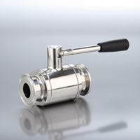 Sanitary 1-Piece Ball Valve Clamp End