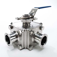 Three Way T-Port Sanitary Ball Valve