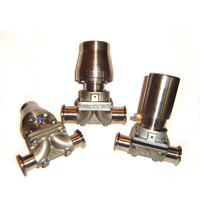 Sanitary Pneumatic Diaphragm Valve With Stainless Actuator